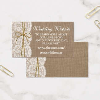 The Rustic Twine Bow Wedding Collection Website Business Card