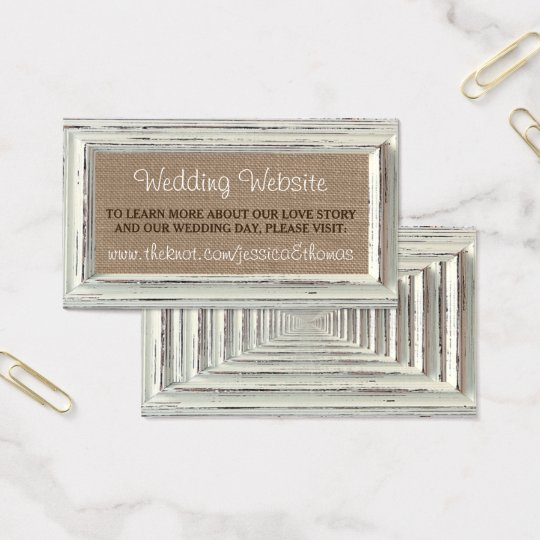 The Rustic White Frame & Burlap Wedding Collection