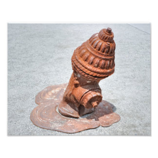 The Rusty Melting Fire Hydrant Photo Print