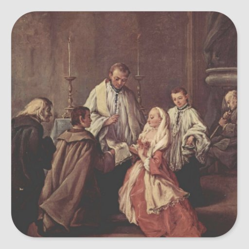 The Sacrament Of Marriage by Pietro Longhi Stickers