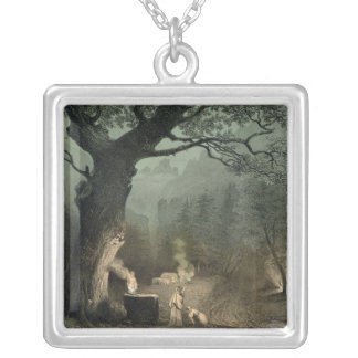 The Sacred Grove of the Druids Silver Plated Necklace