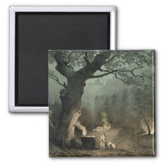 The Sacred Grove of the Druids Square Magnet
