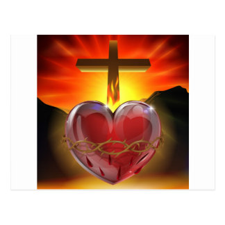 The Sacred Heart illustration Postcards