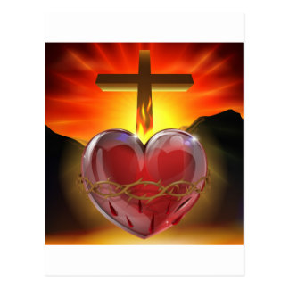 The Sacred Heart illustration Post Card