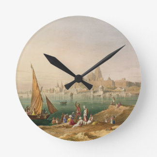 The Sacred Town and Temples of Dwarka, from Volume Round Clock