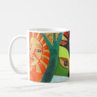 the sacred tree classic white coffee mug