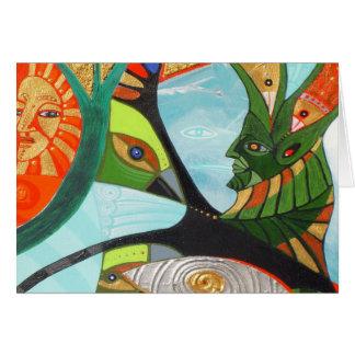 the sacred tree greeting card