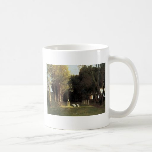 The Sacred Wood, 1882, Arnold Bocklin Basic White Mug