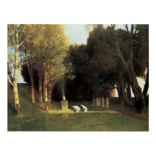 The Sacred Wood, 1882, Arnold Bocklin Postcard