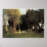 The Sacred Wood, 1882, Arnold Bocklin Posters