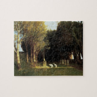 The Sacred Wood by Arnold Bocklin, Vintage Art Jigsaw Puzzle