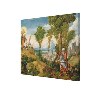 The Sacrifice of Isaac Stretched Canvas Print