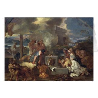 The Sacrifice of Noah, c.1640 Card