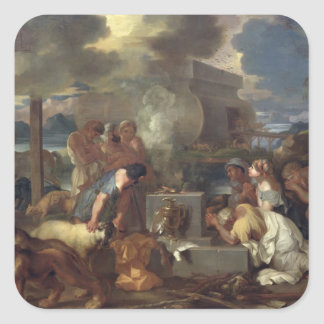 The Sacrifice of Noah, c.1640 Square Stickers