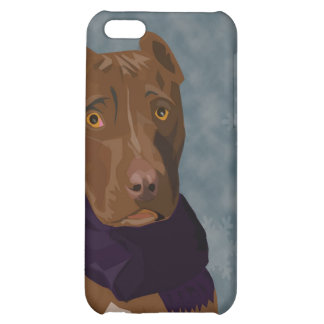 The sad pit bull cover for iPhone 5C
