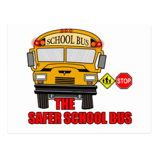 The safer school bus post cards