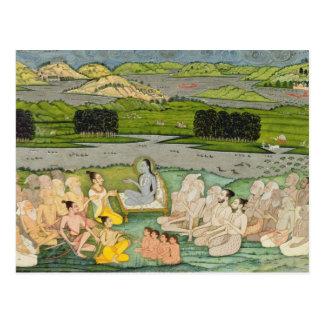 The sage Shuku Deva addressing King Parikshit & a Postcard