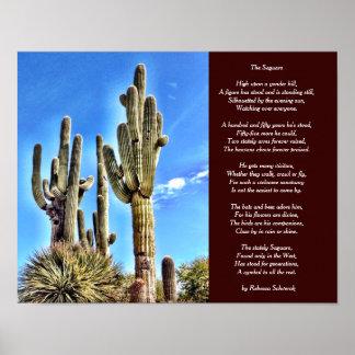 The Saguaro Poem Poster