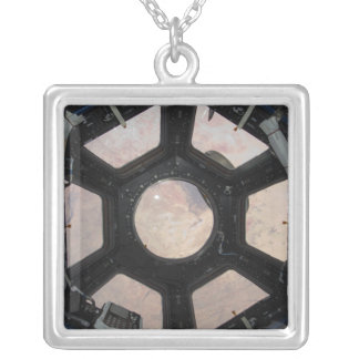 The Sahara Desert visible through the windows Silver Plated Necklace