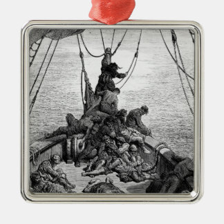 The sailors becalmed and tormented by thirst christmas ornament