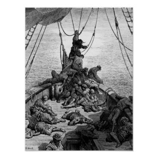 The sailors becalmed and tormented by thirst poster