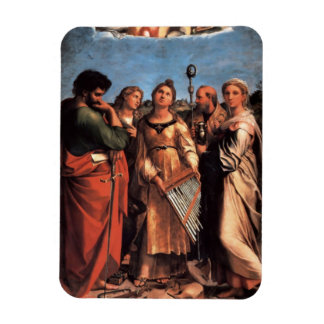 the Saint Cecilia Altarpiece Rectangular Photo Magnet