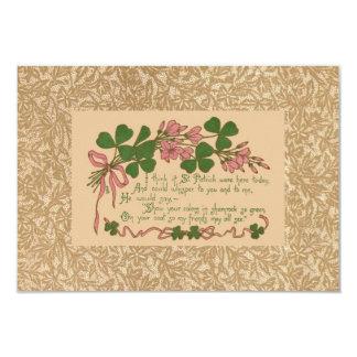 "The Saint Patrick's Day Poem 3.5"" X 5"" Invitation Card"