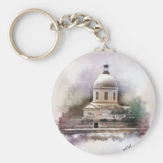 The Saint-Pierre Basilica of Toulouse Basic Round Button Key Ring