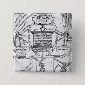 The Saints' Everlasting Rest' 15 Cm Square Badge