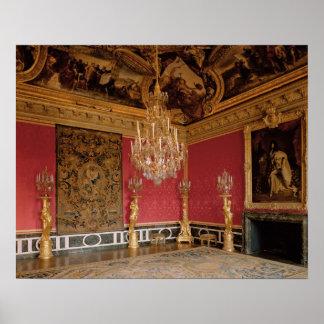 The Salon d'Apollon (Apollo Room) with tapestries Poster