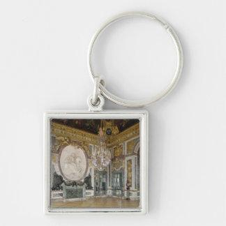 The Salon de la Guerre  1678-84 Silver-Colored Square Key Ring