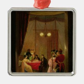 The Salon of Hortense de Beauharnais  in Rome Christmas Ornament