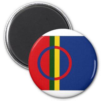 The Sami Flag 6 Cm Round Magnet