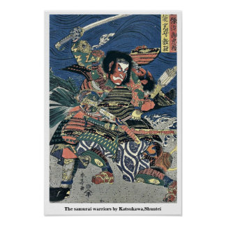 The samurai warriors by Katsukawa,Shuntei Poster