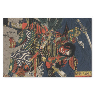 "The samurai warriors Tadanori and Noritsune 10"" X 15"" Tissue Paper"