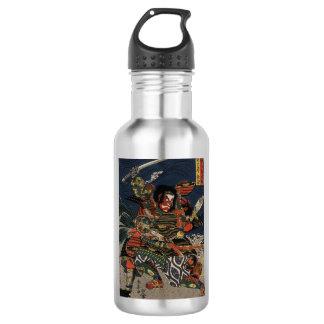 The samurai warriors Tadanori and Noritsune 532 Ml Water Bottle