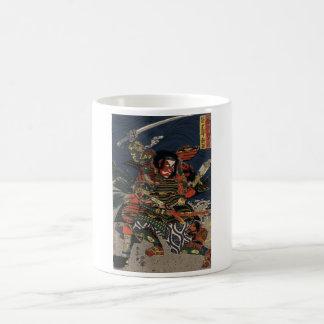 The samurai warriors Tadanori and Noritsune Basic White Mug