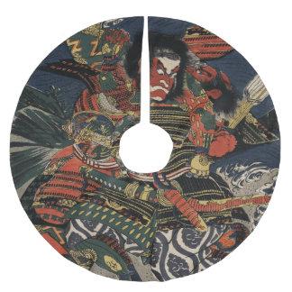 The samurai warriors Tadanori and Noritsune Brushed Polyester Tree Skirt