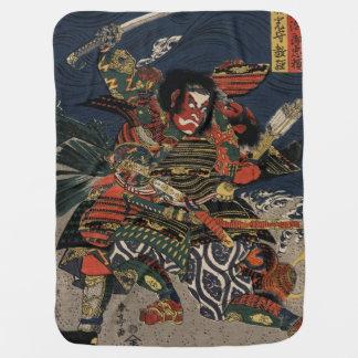 The samurai warriors Tadanori and Noritsune Buggy Blankets