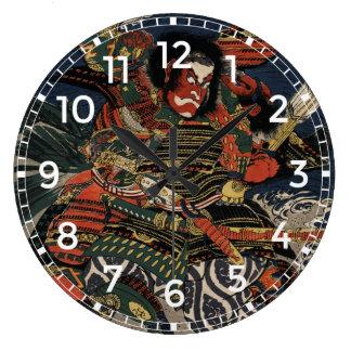 The samurai warriors Tadanori and Noritsune Clock