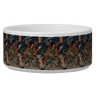 The samurai warriors Tadanori and Noritsune Dog Water Bowl