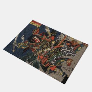 The samurai warriors Tadanori and Noritsune Doormat
