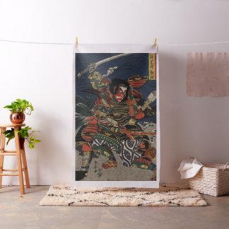 The samurai warriors Tadanori and Noritsune Fabric