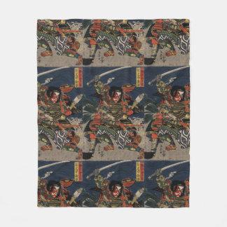 The samurai warriors Tadanori and Noritsune Fleece Blanket