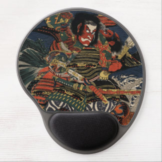 The samurai warriors Tadanori and Noritsune Gel Mouse Pad