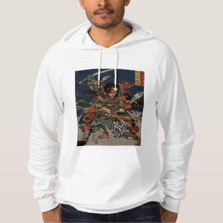 The samurai warriors Tadanori and Noritsune Hooded Sweatshirts