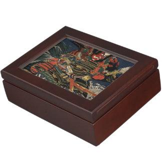 The samurai warriors Tadanori and Noritsune Keepsake Box
