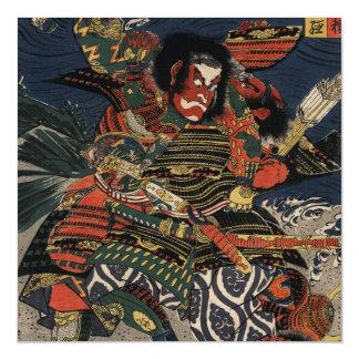 The samurai warriors Tadanori and Noritsune Magnetic Invitations