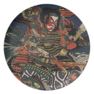 The samurai warriors Tadanori and Noritsune Party Plates