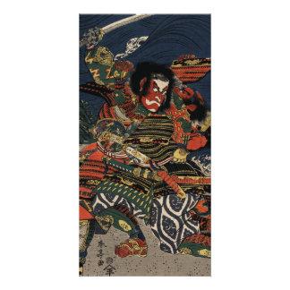The samurai warriors Tadanori and Noritsune Photo Cards